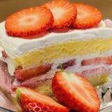 喫茶まにまに(静岡市葵区鷹匠) ~芸術的美しさのいちごのスコップケーキ~